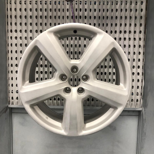 Alloy Wheel Power Coating Before Picture